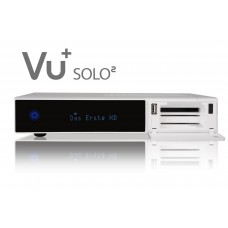 VU+ Solo² WE 2x DVB-S2 Tuner PVR Ready Twin Linux Receiver Full HD 1080p (white)
